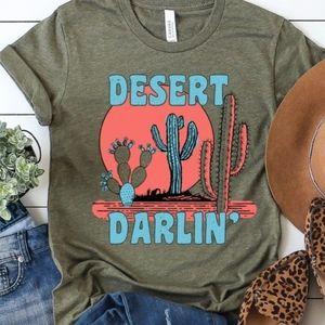 Desert Retro Tee Western Cactus Festival Boho NEW